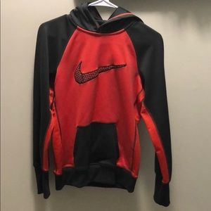 Grey and pink therma fit Nike sweatshirt